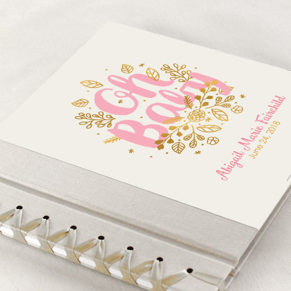 Personalized Baby's First Book Oh Baby Pink