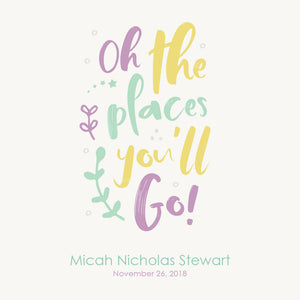 Personalized Baby's First Book Oh The Places You'll Go