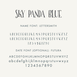 Personalized Baby's First Book Sky Panda Blue
