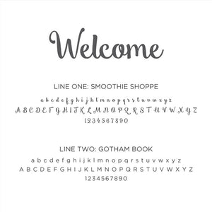 Personalized Baby's First Book Welcome Gray