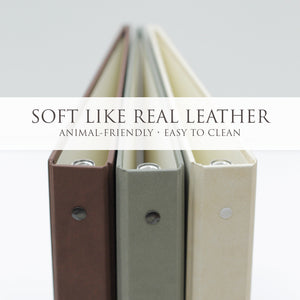 "Anniversary Journal ""Cream"" ~ Animal Friendly Faux Leather"