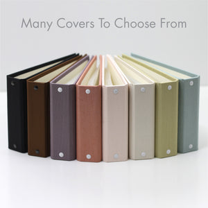 Brag Book Mini Binder with Creme Faux Leather