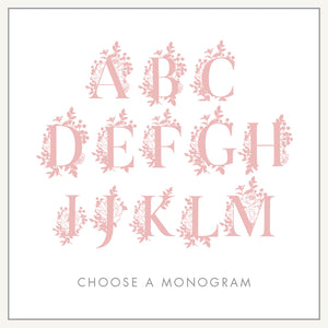 Personalized Baby's First Book Leafy Monogram Pink