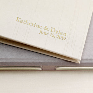 Event Guestbook Champagne Silk