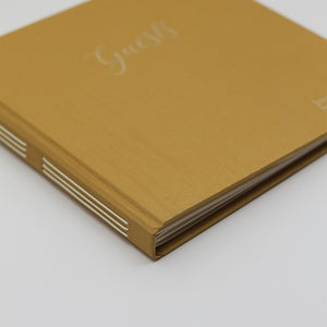 "Event Guestbook Jasmine Silk Cover with Embossed ""Guests"""