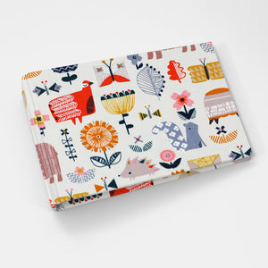 Brag Book Mini Binder with Flower Friends Fabric Cover