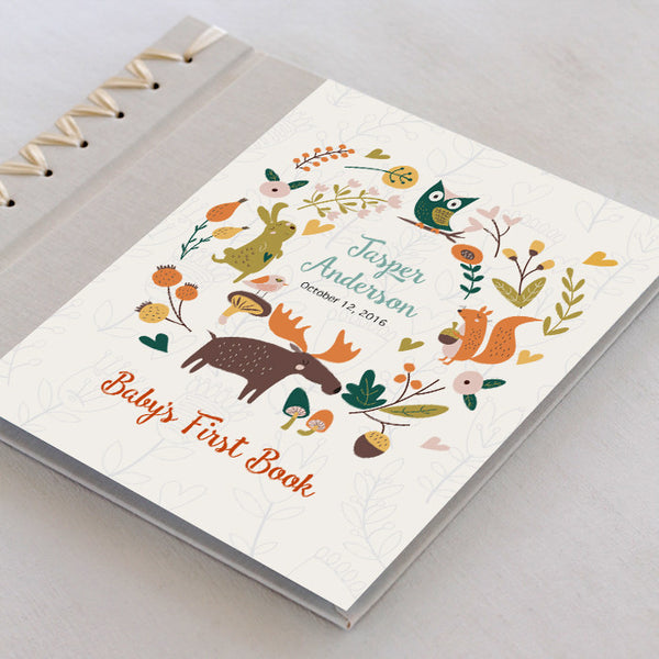Personalized Baby's First Book Forest Friends