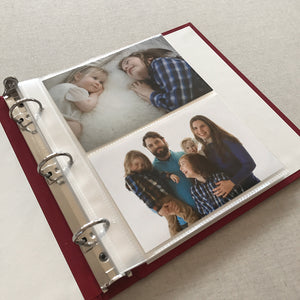 Photo Binder (for 4 x 6 photos) Papaya Silk