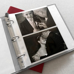 Photo Binder (for 4 x 6 photos) Crosshatch