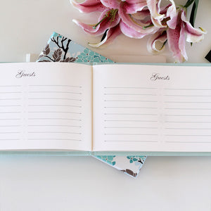 Guestbook Mocha ~ Animal Friendly Faux Leather