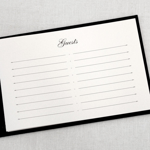 Guestbook Basic Black