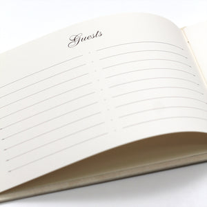 Guestbook Cream ~ Animal Friendly Faux Leather