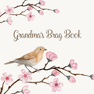 Grandma's Brag Book Mini Binder - Cherry Bird