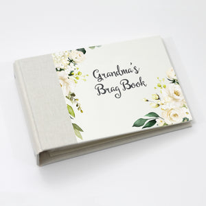 Grandma's Brag Book Mini Binder - White Rose