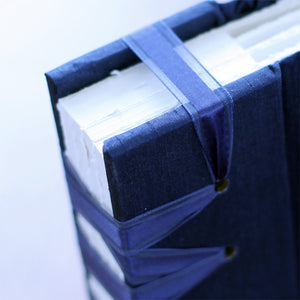 Large Album Navy Silk