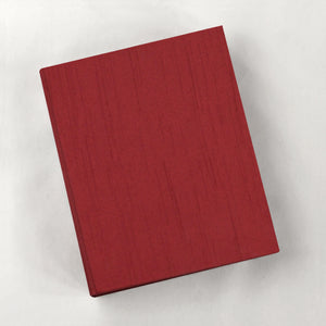 Large Journal Red Rose Silk