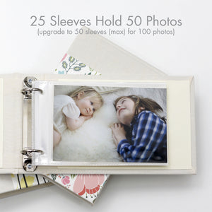 Personalized Brag Book Mini Binder - Baby Garden