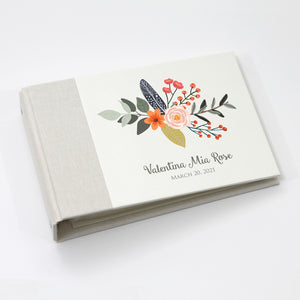 Personalized Brag Book Mini Binder - Fall Bouquet