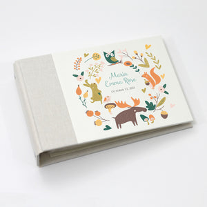 Personalized Brag Book Mini Binder - Forest Friends