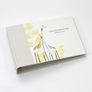 Personalized Brag Book Mini Binder - Yellow Giraffe