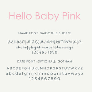 Personalized Brag Book Mini Binder - Hello Baby Pink