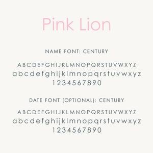 Personalized Brag Book Mini Binder - Pink Lion