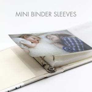 Mini Binder Refill Sleeves (Standard 4x6 Photos) Set Of 10