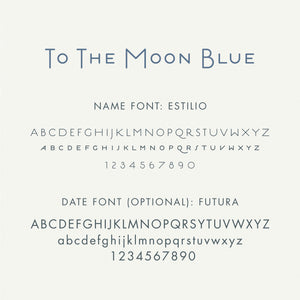 Personalized Brag Book Mini Binder - To The Moon (Blue)