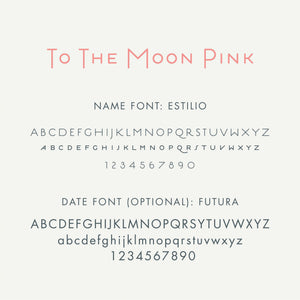 Personalized Brag Book Mini Binder - To The Moon (Peach)