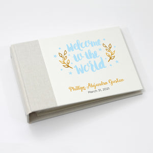 Personalized Brag Book Mini Binder - Welcome Blue