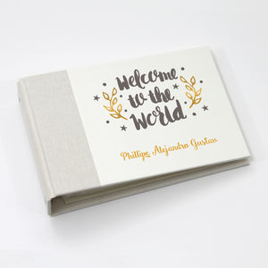 Personalized Brag Book Mini Binder - Welcome Gray