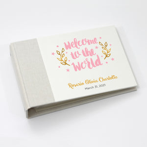 Personalized Brag Book Mini Binder - Welcome Pink