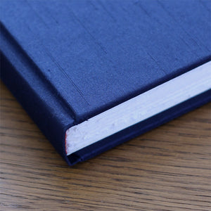 Medium Journal Navy Silk