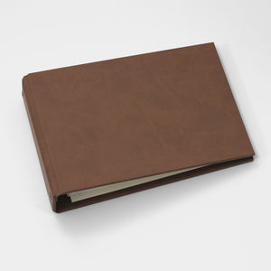 Brag Book Mini Binder with Mocha Faux Leather