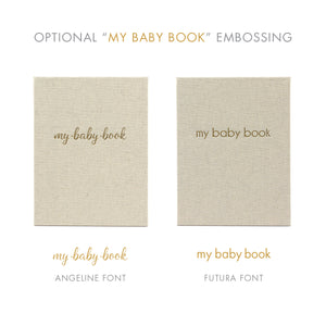 Baby's First Book with Pewter Linen