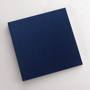 Event Guestbook Navy Silk