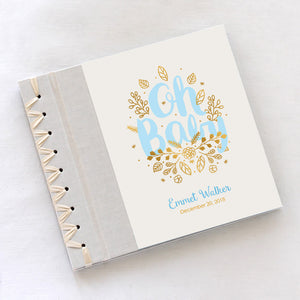 Personalized Baby's First Book Oh Baby Blue