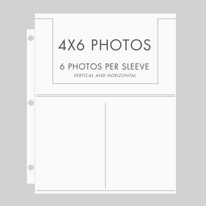 Storage Binder Sleeves (for 4x6 Photos) Set Of 10