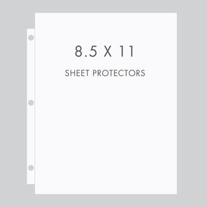 Storage Binder Sheet Protectors (for 8.5 x 11 Documents) Set Of 10