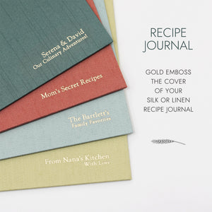 Recipe Journal Natural Linen