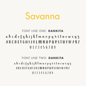 Personalized Baby's First Book Savanna