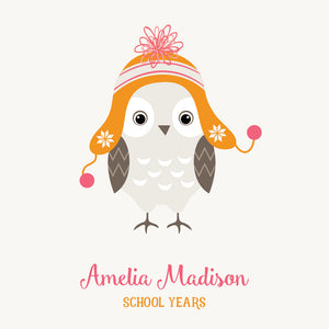 Personalized School Years Hoot {Pink Orange}