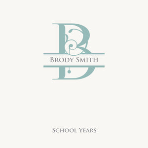 Personalized School Years Monogram Sage Swirl