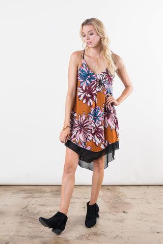 Chrysanthemum Mini Dress