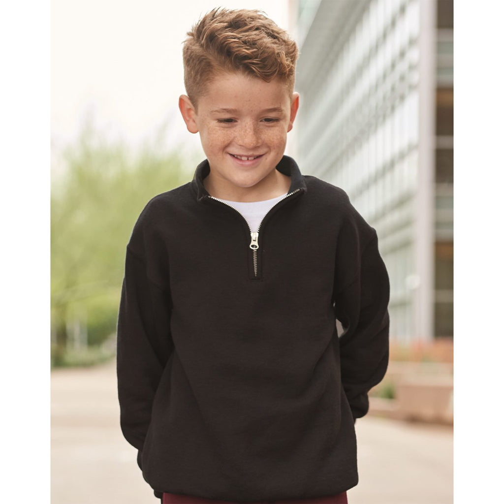 youth personalized embroidered 1/4 zip pullover sweatshirt