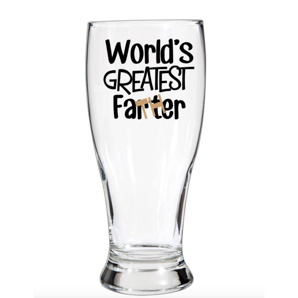 Worlds Greatest Father Beer Glass