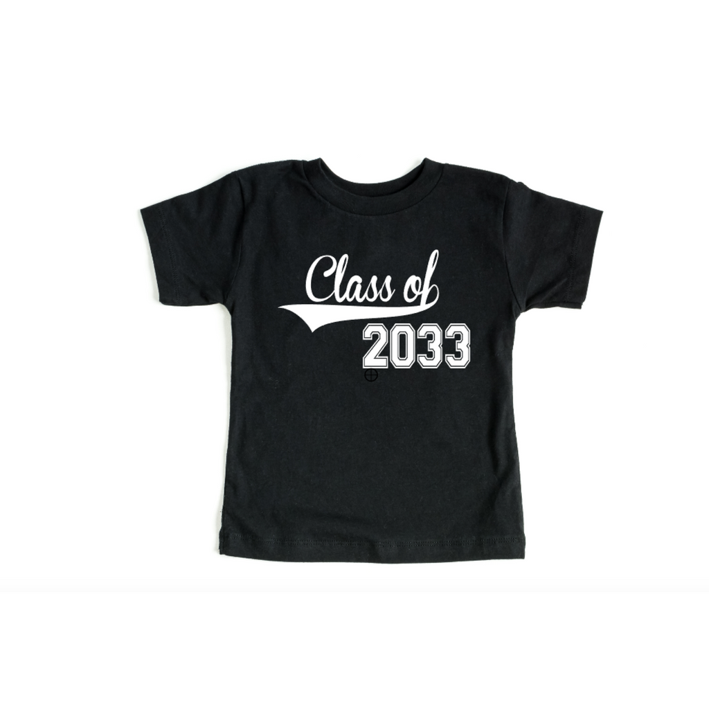 Class of 2033 black shirt with white text