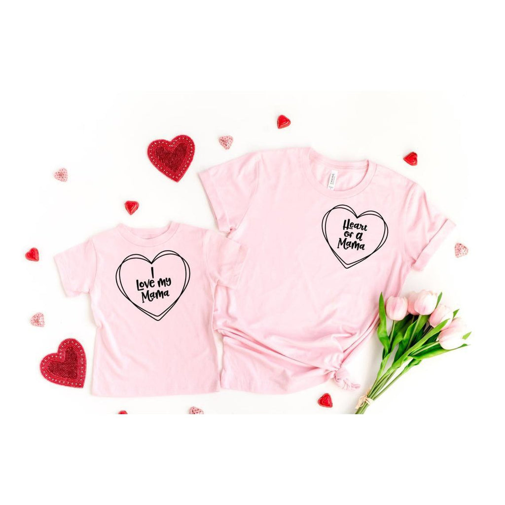 mommy and me matching valentines day shirt
