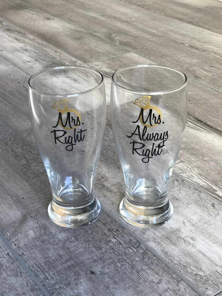 Easter Gift for Her, Mrs Right and Mrs Always Right, Lesbian Engagement Gift, Soon to be Mrs, Bridal Shower Gift, Lesbian Wedding