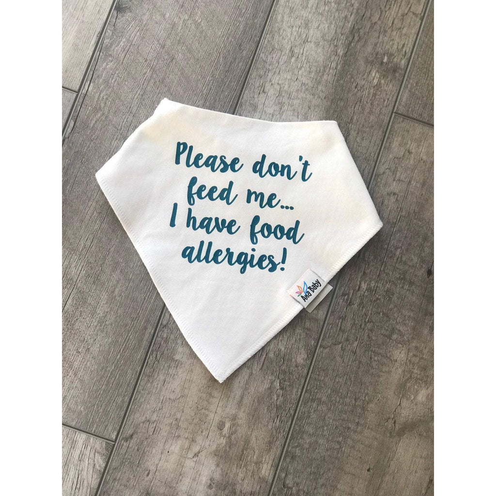 personalized bandana for kids food allergies